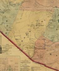 Shrewsbury Township, Pennsylvania 1872 Old Town Map Custom Print - Sullivan Co.