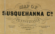 Title of Source Map - Susquehanna Co., Pennsylvania 1858 - NOT FOR SALE - Susquehanna Co.