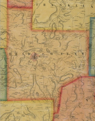 Bridgewater Township, Pennsylvania 1858 Old Town Map Custom Print - Susquehanna Co.