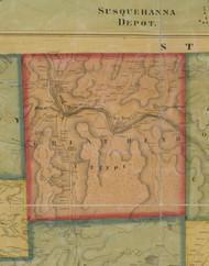 Great Bend Township, Pennsylvania 1858 Old Town Map Custom Print - Susquehanna Co.