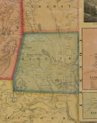 Herrick Township, Pennsylvania 1858 Old Town Map Custom Print - Susquehanna Co.
