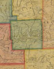 Jessup Township, Pennsylvania 1858 Old Town Map Custom Print - Susquehanna Co.