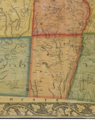 Lathrop Township, Pennsylvania 1858 Old Town Map Custom Print - Susquehanna Co.