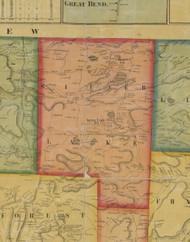 Silver Lake Township, Pennsylvania 1858 Old Town Map Custom Print - Susquehanna Co.