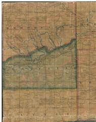 Brookfield Township, Pennsylvania 1862 Old Town Map Custom Print - Tioga Co.