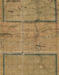 Covington Township, Pennsylvania 1862 Old Town Map Custom Print - Tioga Co.