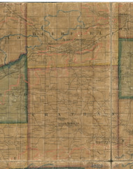 Deerfield Township, Pennsylvania 1862 Old Town Map Custom Print - Tioga Co.