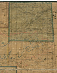 Jackson Township, Pennsylvania 1862 Old Town Map Custom Print - Tioga Co.
