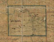 Richmond Township, Pennsylvania 1862 Old Town Map Custom Print - Tioga Co.