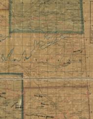 Rutland Township, Pennsylvania 1862 Old Town Map Custom Print - Tioga Co.