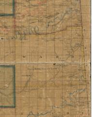 Ward Township, Pennsylvania 1862 Old Town Map Custom Print - Tioga Co.