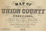Title of Source Map - Union Co., Pennsylvania 1856 - NOT FOR SALE - Union Co.