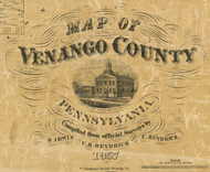 Title of Source Map - Venango Co., Pennsylvania 1857 - NOT FOR SALE - Venango Co.