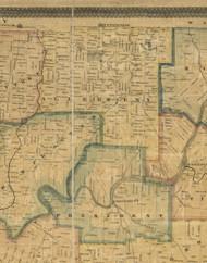 Allegheny Township, Pennsylvania 1857 Old Town Map Custom Print - Venango Co.