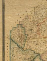 Canal Township, Pennsylvania 1857 Old Town Map Custom Print - Venango Co.
