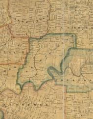 Cornplanter Township, Pennsylvania 1857 Old Town Map Custom Print - Venango Co.