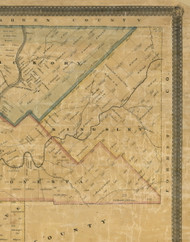 Kingsley Township, Pennsylvania 1857 Old Town Map Custom Print - Venango Co.