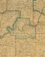 President Township, Pennsylvania 1857 Old Town Map Custom Print - Venango Co.