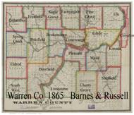 Towns on Source Map - Warren Co., Pennsylvania 1865 - NOT FOR SALE - Warren Co. (Barnes)