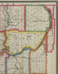 Corydon Township, Pennsylvania 1865 Old Town Map Custom Print - Warren Co. (Barnes)