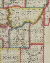 Mead Township, Pennsylvania 1865 Old Town Map Custom Print - Warren Co. (Barnes)
