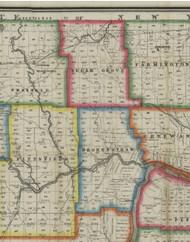Sugar Grove Township, Pennsylvania 1865 Old Town Map Custom Print - Warren Co. (Barnes)