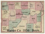 Towns on Source Map -Warren Co., Pennsylvania 1865 - NOT FOR SALE - Warren Co. (Beers)
