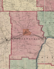Brokenstraw Township, Pennsylvania 1865 Old Town Map Custom Print - Warren Co. (Beers)