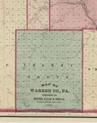 Cherry Grove Township, Pennsylvania 1865 Old Town Map Custom Print - Warren Co. (Beers)
