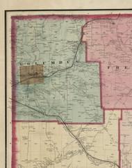 Columbus Township, Pennsylvania 1865 Old Town Map Custom Print - Warren Co. (Beers)
