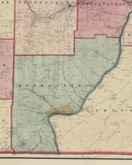 Deerfield Township, Pennsylvania 1865 Old Town Map Custom Print - Warren Co. (Beers)