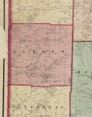 Eldred Township, Pennsylvania 1865 Old Town Map Custom Print - Warren Co. (Beers)