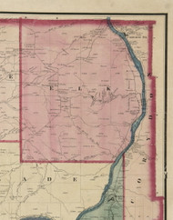 Elk Township, Pennsylvania 1865 Old Town Map Custom Print - Warren Co. (Beers)