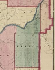 Kinzua Township, Pennsylvania 1865 Old Town Map Custom Print - Warren Co. (Beers)