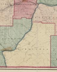 Limestone Township, Pennsylvania 1865 Old Town Map Custom Print - Warren Co. (Beers)