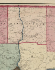 Pine Grove Township, Pennsylvania 1865 Old Town Map Custom Print - Warren Co. (Beers)