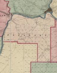Pleasant Township, Pennsylvania 1865 Old Town Map Custom Print - Warren Co. (Beers)