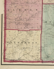 South West Township, Pennsylvania 1865 Old Town Map Custom Print - Warren Co. (Beers)