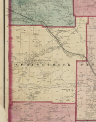 Spring Creek Township, Pennsylvania 1865 Old Town Map Custom Print - Warren Co. (Beers)
