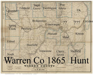 Towns on Source Map - Warren Co., Pennsylvania 1865 - NOT FOR SALE - Warren Co.