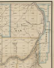 Corydon Township, Pennsylvania 1865 Old Town Map Custom Print - Warren Co.