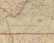 Limestone Township, Pennsylvania 1882 Old Town Map Custom Print - Warren Co.