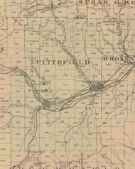 Pittsfield Township, Pennsylvania 1882 Old Town Map Custom Print - Warren Co.
