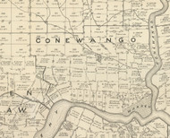 Conewango Township, Pennsylvania 1889 Old Map Custom Print - Warren Co.