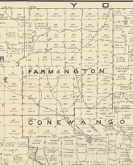 Farmington Township, Pennsylvania 1889 Old Map Custom Print - Warren Co.
