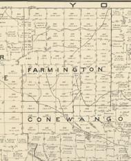Farmington Township, Pennsylvania 1889 Old Map Custom Print - Warren Co.
