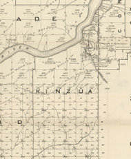 Kinzua Township, Pennsylvania 1889 Old Map Custom Print - Warren Co.