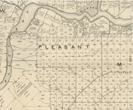 Pleasant Township, Pennsylvania 1889 Old Map Custom Print - Warren Co.