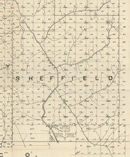 Sheffield Township, Pennsylvania 1889 Old Map Custom Print - Warren Co.