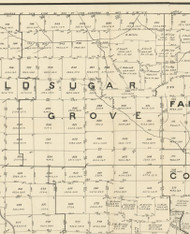 Sugar Grove Township, Pennsylvania 1889 Old Map Custom Print - Warren Co.